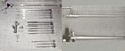 Equipamentos de broncoscopia rígida.